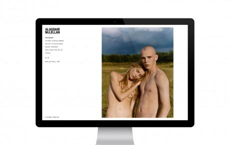 Photo portfolio site for Alasdair McLellan