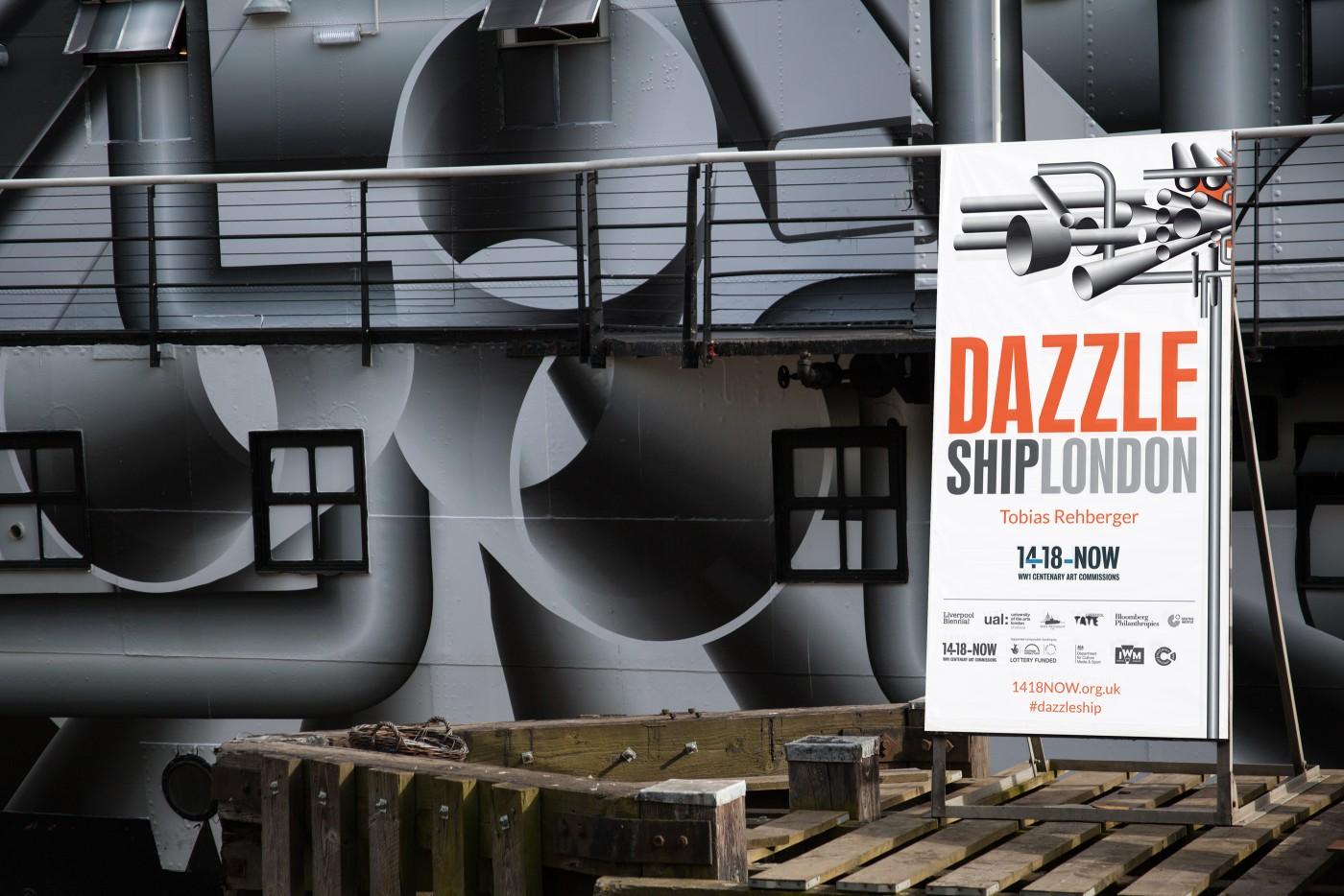 Dazzle Ship London Banner
