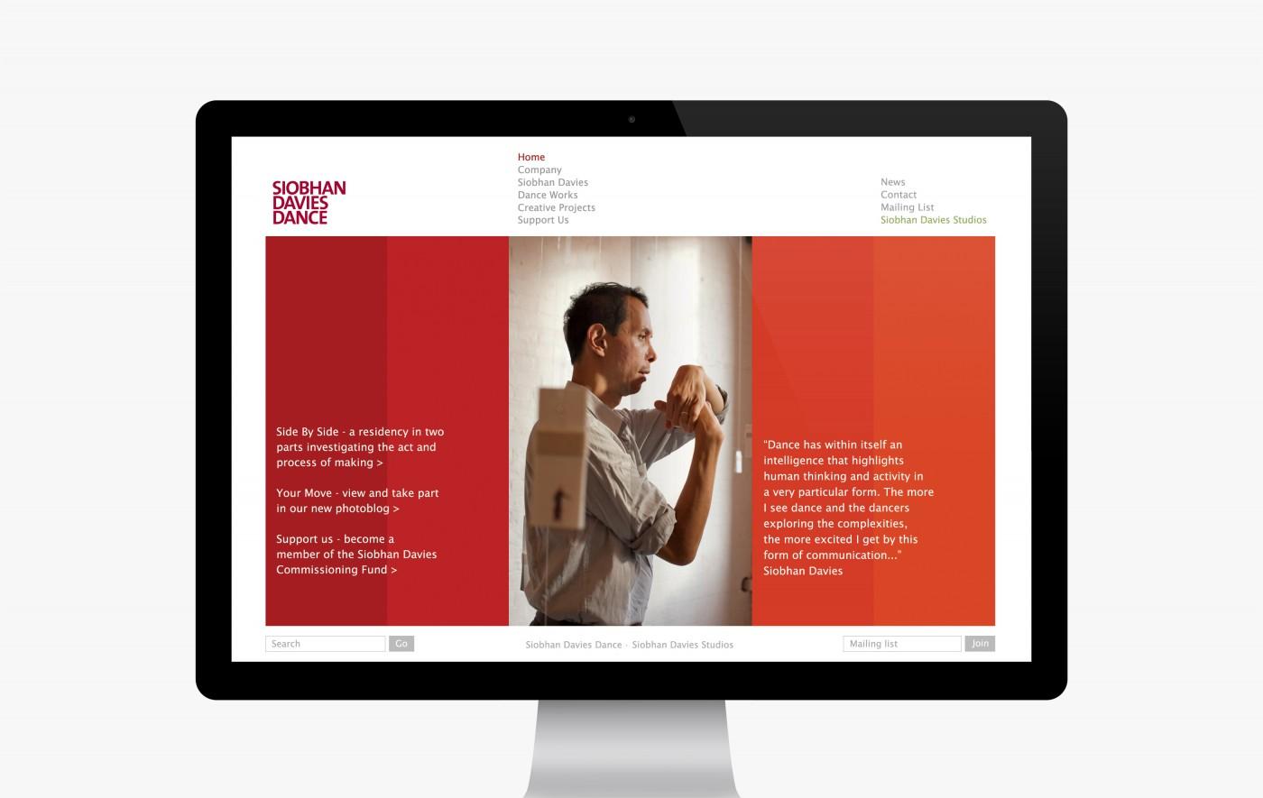 Siobhan Davies Dance company website (2007-2013)