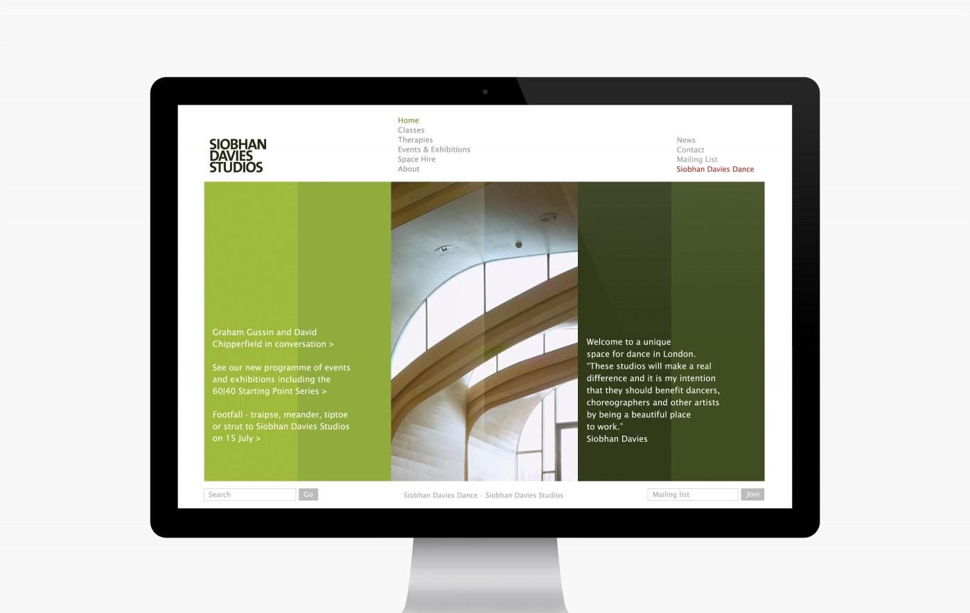 Siobhan Davies Studios website (2007-2013)