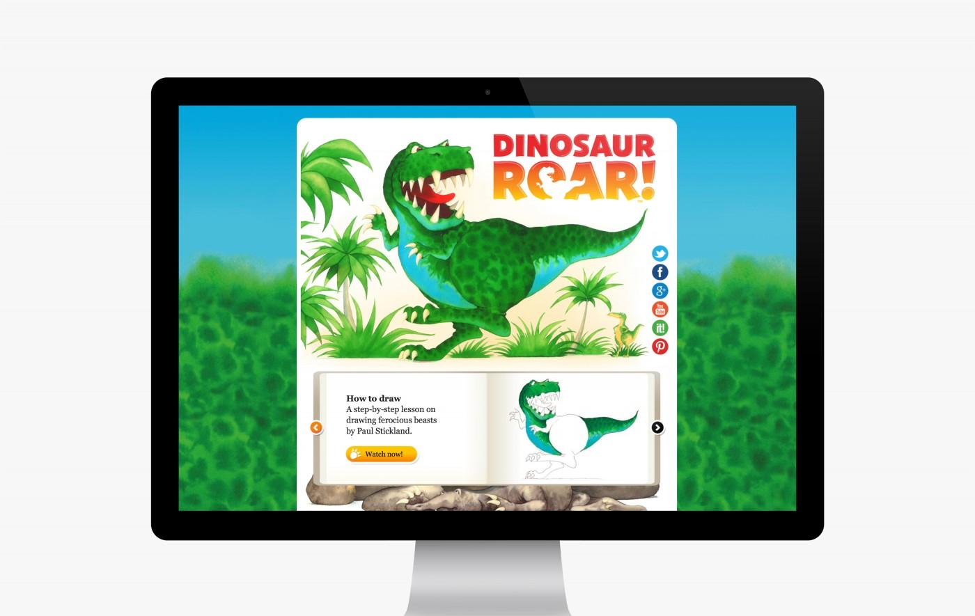 Dinosaur Roar! website